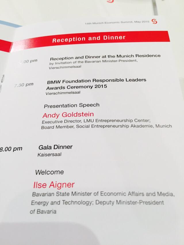 #MES15 Tension is up: Who Will Win BMW Foundations RL Award tonight? Andy Goldstein @LMU_EC will energize the cermony http://t.co/wfu21jsbAL