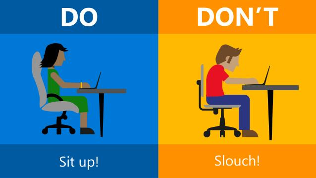 The do 39 s and don 39 ts of office ergonomics slide share for Ergonomia en la oficina