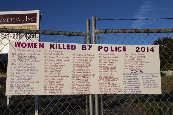 Women killed by police in 2014. #SayTheirNames #SayHerName #InvisibleVictims #QuestionTheNarrative http://t.co/0NUM416Dhm