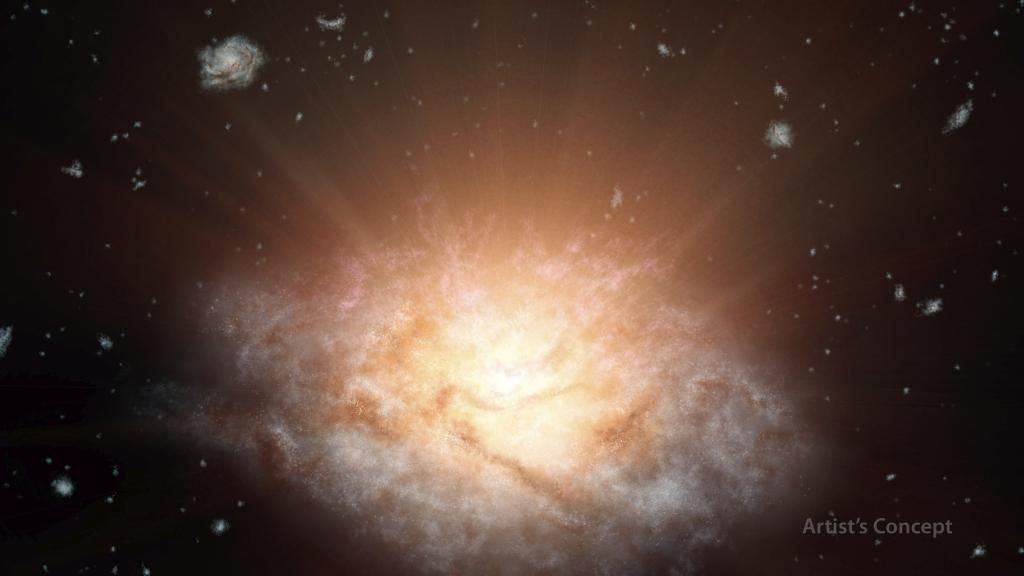 Most Luminous Known Galaxy Shines Brighter Than Light of 300 Trillion Suns