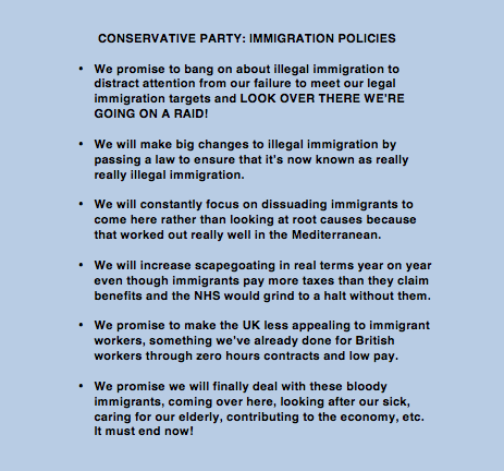 Those new Tory immigration policies in full. http://t.co/EehCW8fZQb