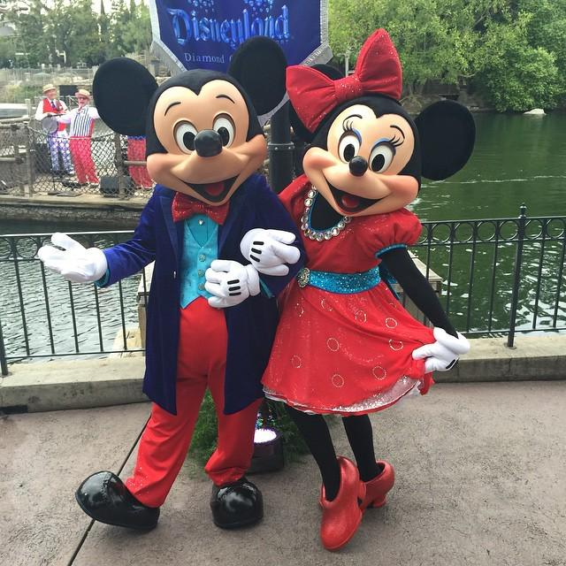 Mickey and Minnie greeting guests to the media reception #Disneyland60 http://t.co/oNwrIawPna