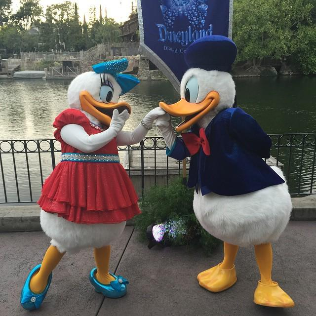 Donald is quite the charmer! #Disneyland60 http://t.co/zmgcWecaZQ