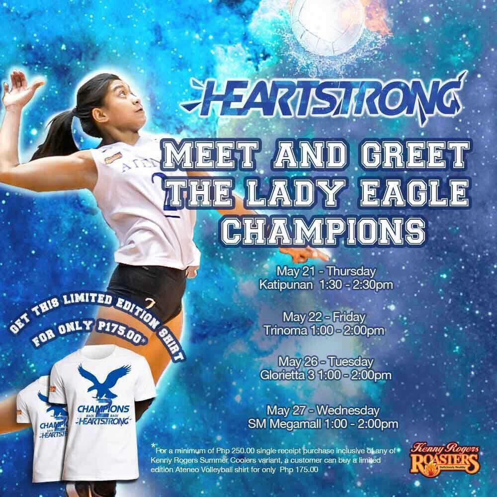 Denden lazaro fp on twitter 2nd day of the meet and greet with the denden lazaro fp on twitter 2nd day of the meet and greet with the ateneo lady eagles today at kenny rogers trinoma 100 200pm httpt6mgd9mj5b7 m4hsunfo