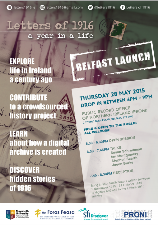 Thumbnail for Letters of 1916: Belfast | SFI Outreach Event | Public Record Office of Northern Ireland | 28.05.2015