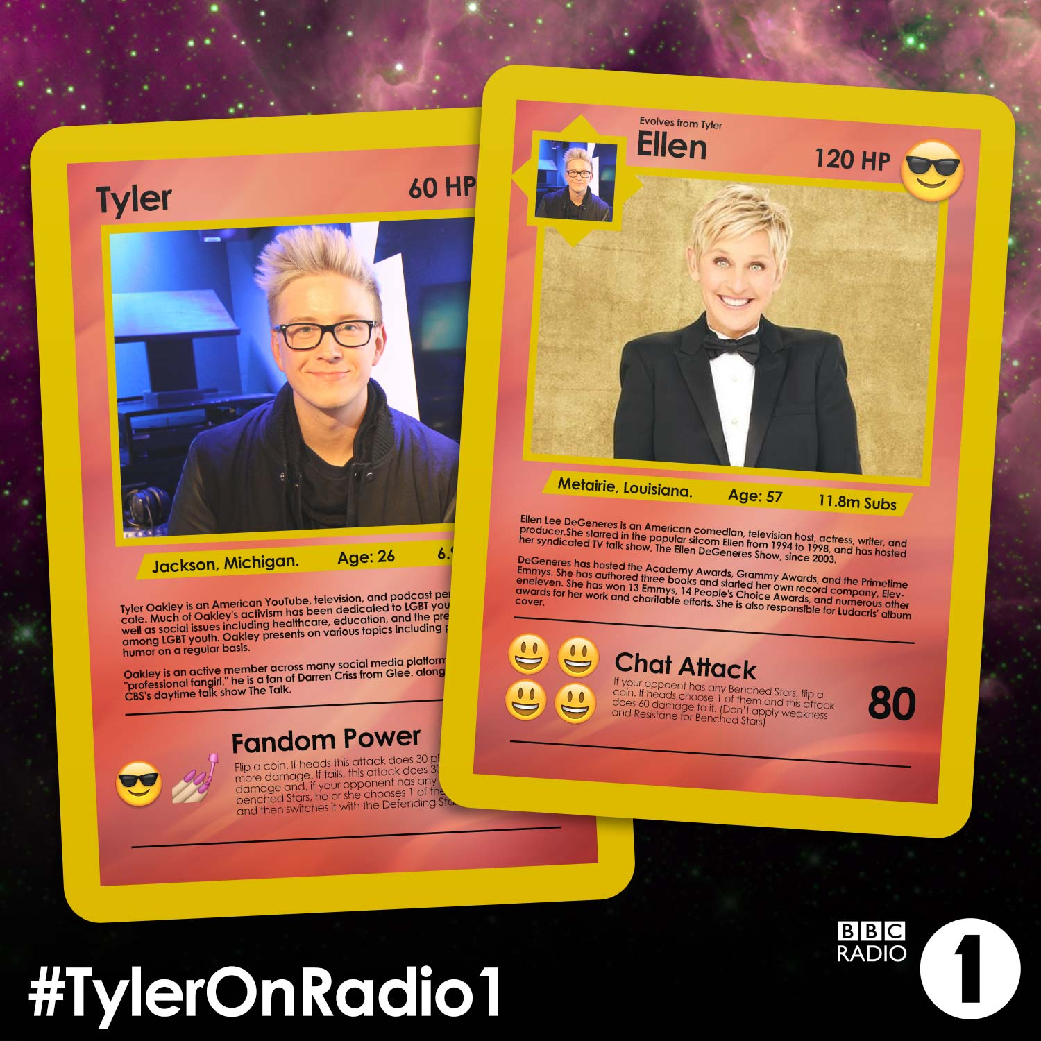 RT @BBCR1: Imagine if there really were @TylerOakley and @TheEllenShow playing cards! #TylerOnRadio1 http://t.co/cvur7CQm85 http://t.co/yd1…