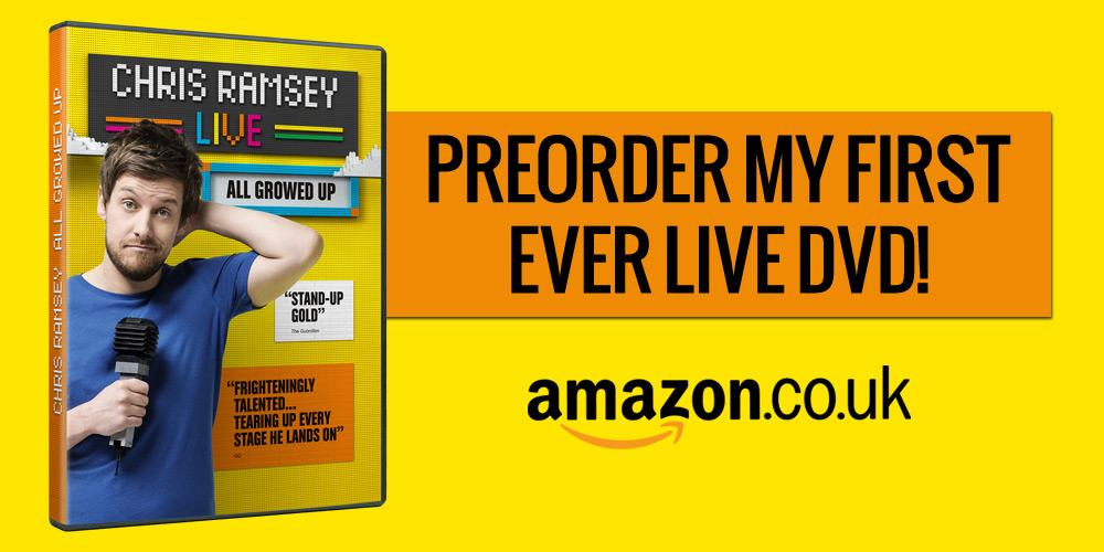 RT @IAmChrisRamsey: I'M RELEASING MY FIRST EVER DVD!   It'll be out for Christmas!  Preorder it now - http://t.co/SFidepkWbF  :) http://t.c…