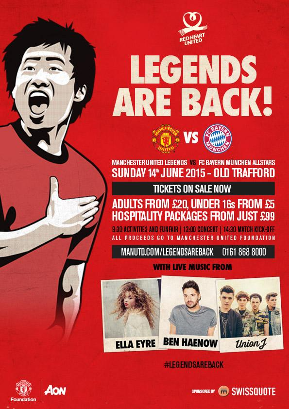 We're pleased to announce that Ji Sung Park will be joining the Legends for June's #legendsareback fixture #mufc http://t.co/PDJKneWYwV