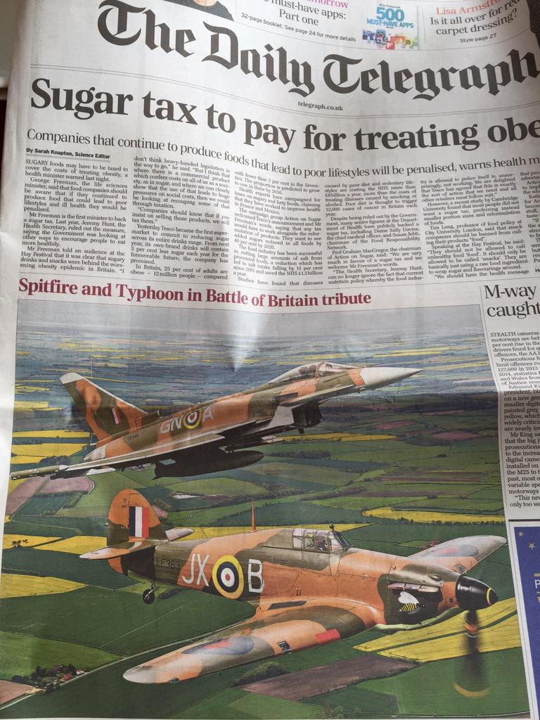 Seriously, how can the Telegraph not know the difference between a Hurricane and a Spitfire? http://t.co/6jVhzOHu2f