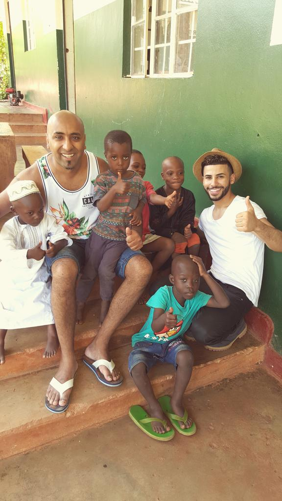 So much love going out to @omgAdamSaleh for coming and supporting the Greenland orphanage. Kids love him #Africa http://t.co/fPTTHxXpzX