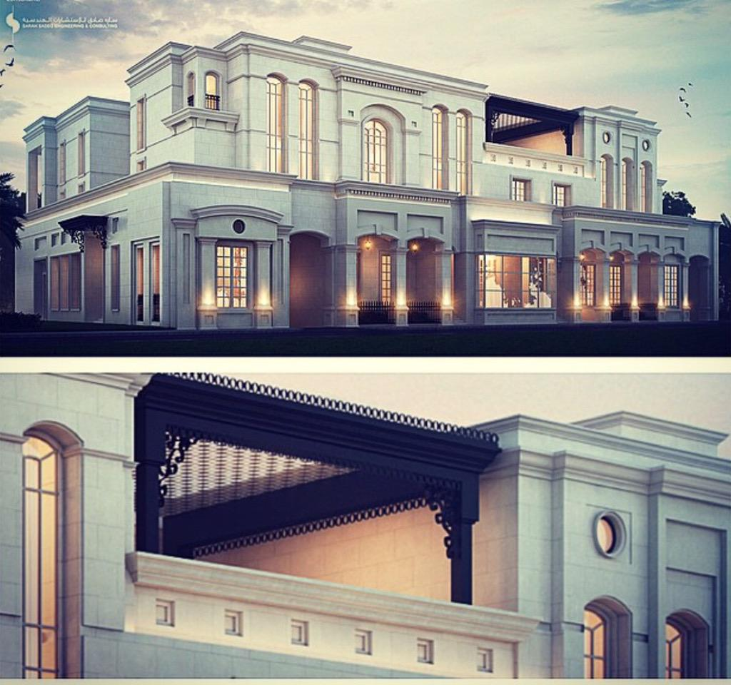 Arch sarah sadeq on twitter when it comes to classic for Classic villa exterior design