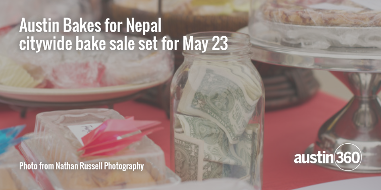 Don't forget! @AustinBakes for Nepal is taking place tomorrow. Bake sales, FTW! http://t.co/lMwMFFljSp http://t.co/WmUGuX2Tnr