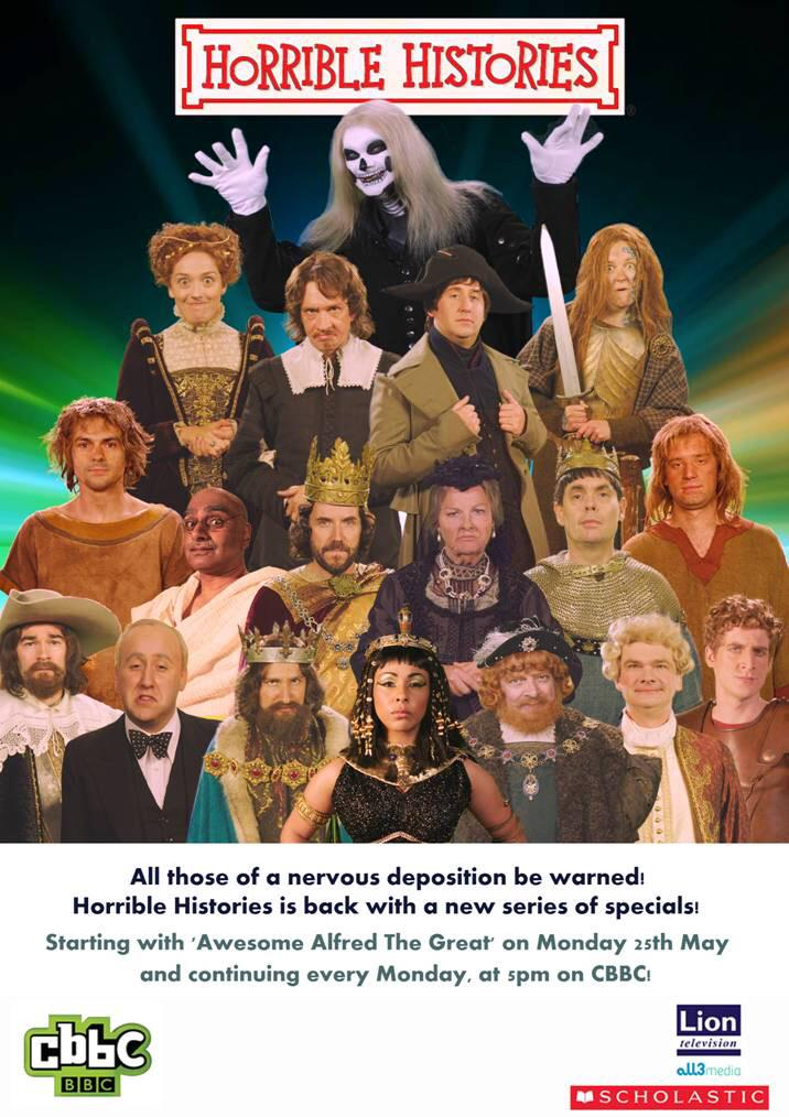 Monday, 5pm, CBBC. All new Horrible Histories begins... http://t.co/I98sBnu4j8