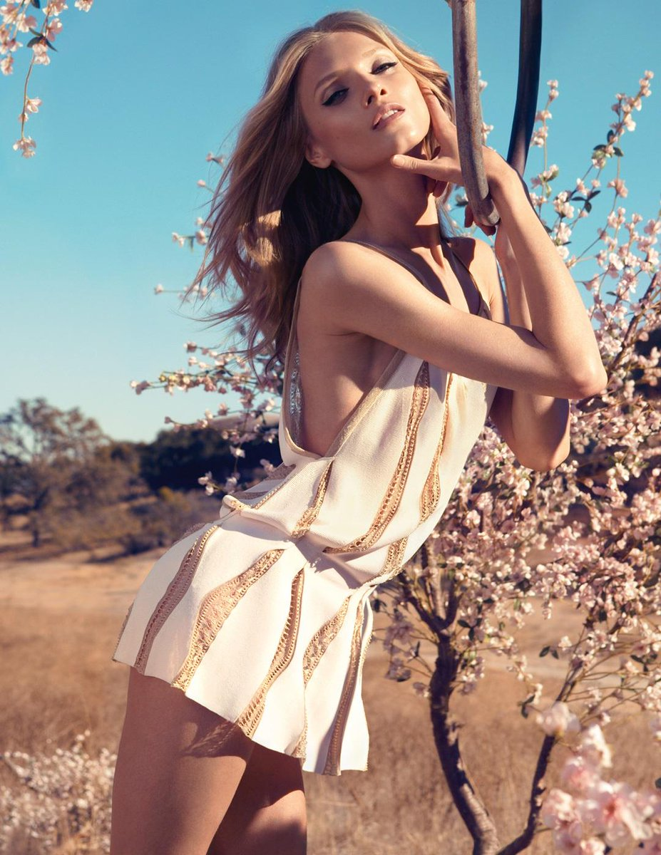 Anna Selezneva (Russian model, born in 1990) for Blumarine SS 2013 ads