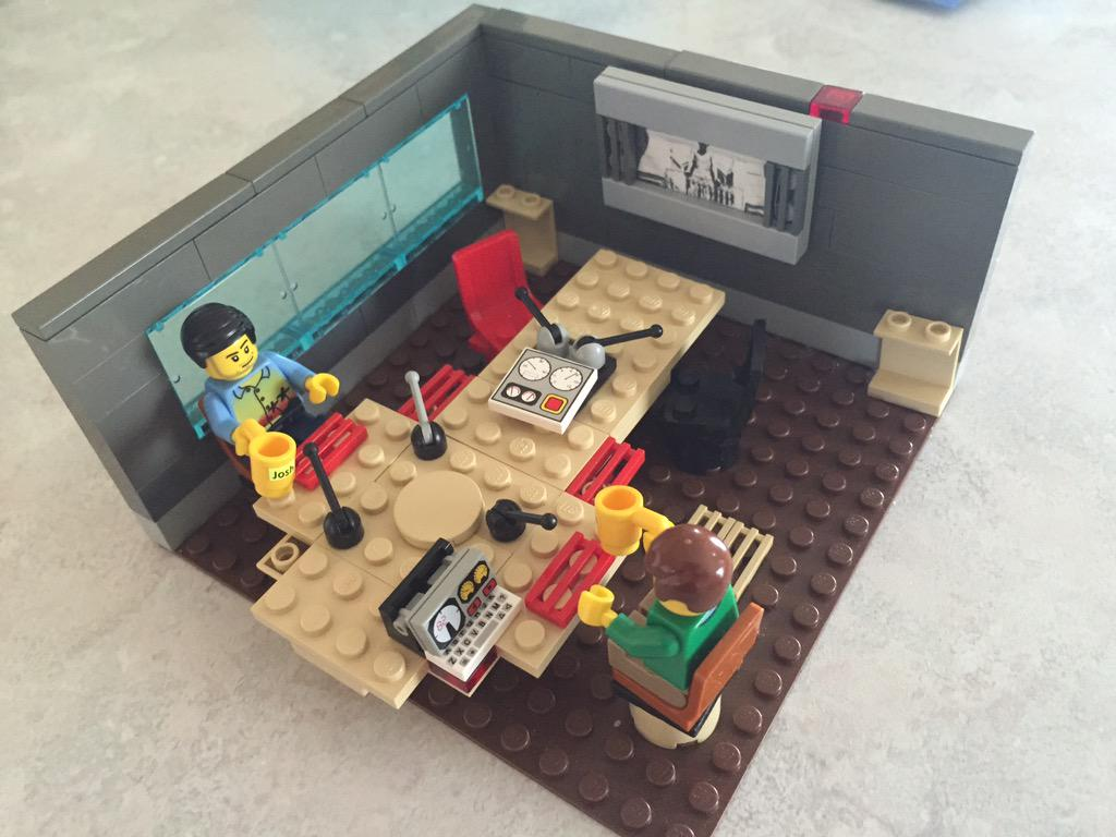 Listener Trevor Brown's (Newark, OH) fantastic Lego recreation of our @WBEZ studio setup. http://t.co/oc7HYaNSLz