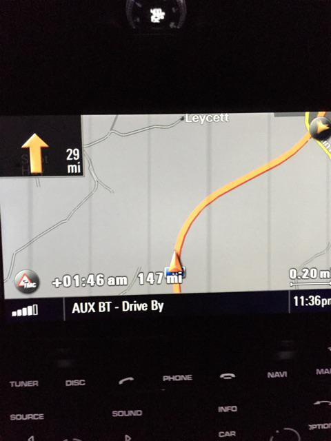 I will arrive at my destination at 1:46 according to the nav. Jb http://t.co/gx21G20zLJ