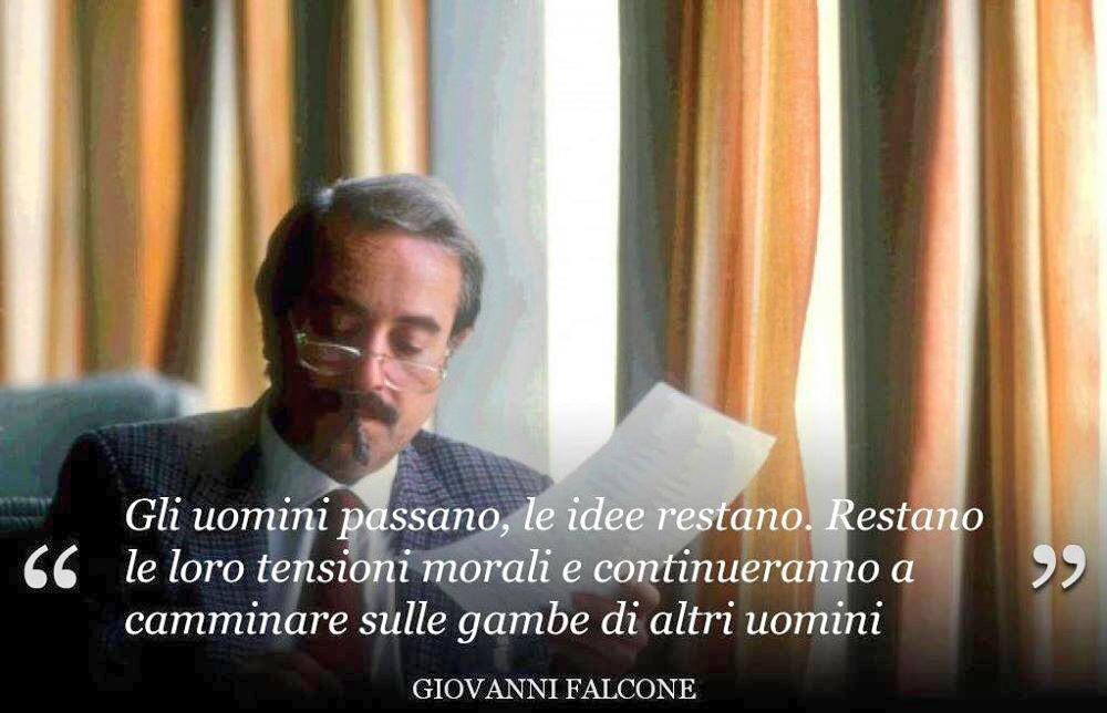 Frase famosa di Giovanni Falcone, per non dimenticare la strage di Capaci