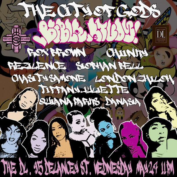 WED MAY 27TH The DL @TheRealZhiloh @R0x_Br0wn @Chiinky @chasitysamoneny @QUIANAPARKS @siobhanbell_ #thecityofgods http://t.co/F3mGg8Ef0P
