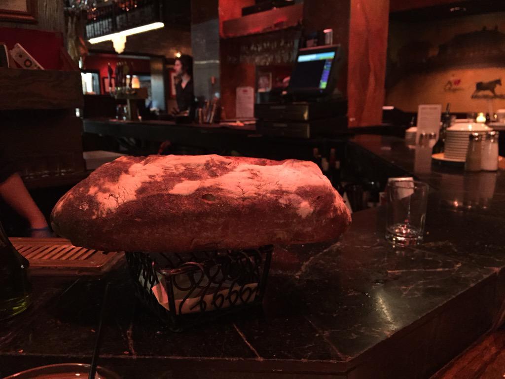 @CafeBaBaReeba #funnybartender mmmm hot fresh bread!