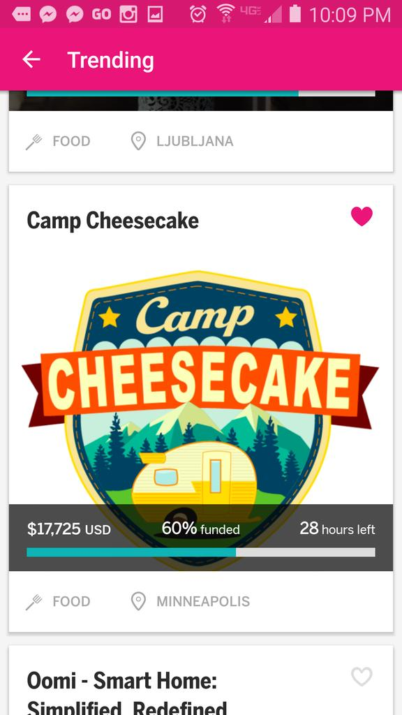 We're trending!!! Just 28hrs left to fund Camp Cheesecake on @indiegogo. Thanks so much! http://t.co/lCbfH4NAOw http://t.co/Q3XIV2tTUV