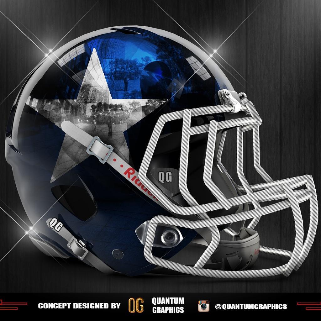 Quantum graphics on twitter dallas cowboys helmet - Dallas cowboys concept helmet ...