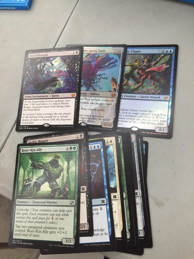 Just watched @Dudardd open the good old double foil triple a-class mythic #mm15 pack #thenuts #$300 http://t.co/TmSlCGTq8U