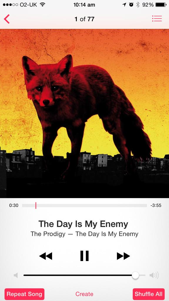 Serious training tunes @the_prodigy http://t.co/CZ66w8XYV6