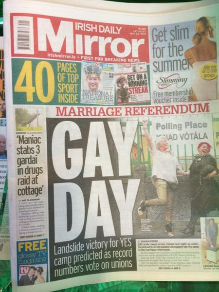 Front page of Irish Daily Mirror #MarRef http://t.co/aW6mGrvkEQ