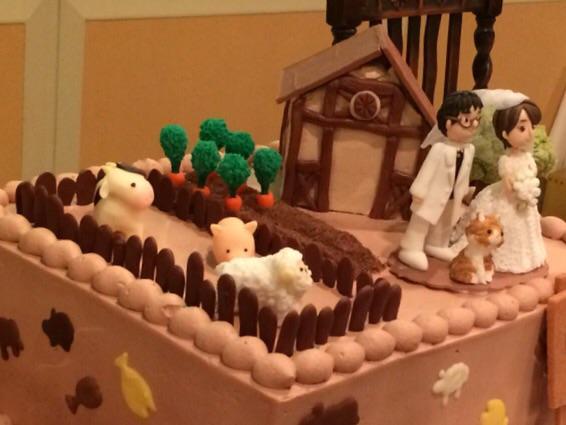 さきほど友人の結婚パーティに出席してきましたが、ウェディングケーキが「アグリコラ」仕様というボードゲーマーぶりでした。お二人の今後のアグリカルチャーに幸あれ!! http://t.co/SE9Yu3L9fB