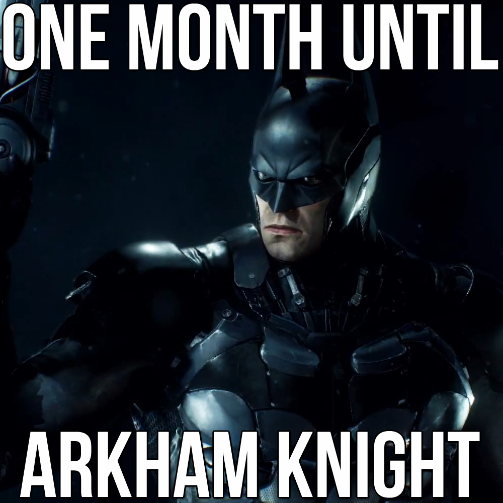 ONE MONTH LEFT UNTIL BATMAN: ARKHAMKNIGHT! http://t.co/F68vrPkoAk http://t.co/csXJB9oknp