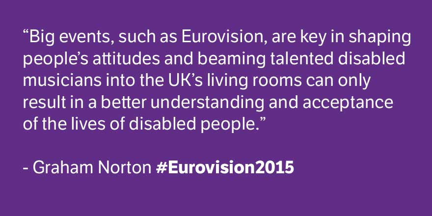 Fantastic quote from @grahnort about disabled musicians in #Eurovision2015 #POL http://t.co/DqrjYXYy1J