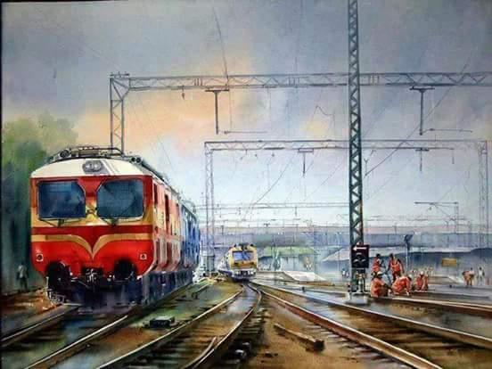 Image result for mumbai train painting