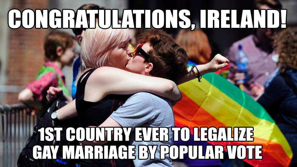 Rainbows over Ireland today. Congratulations. We're celebrating love with you. http://t.co/YFXtVmVMJO