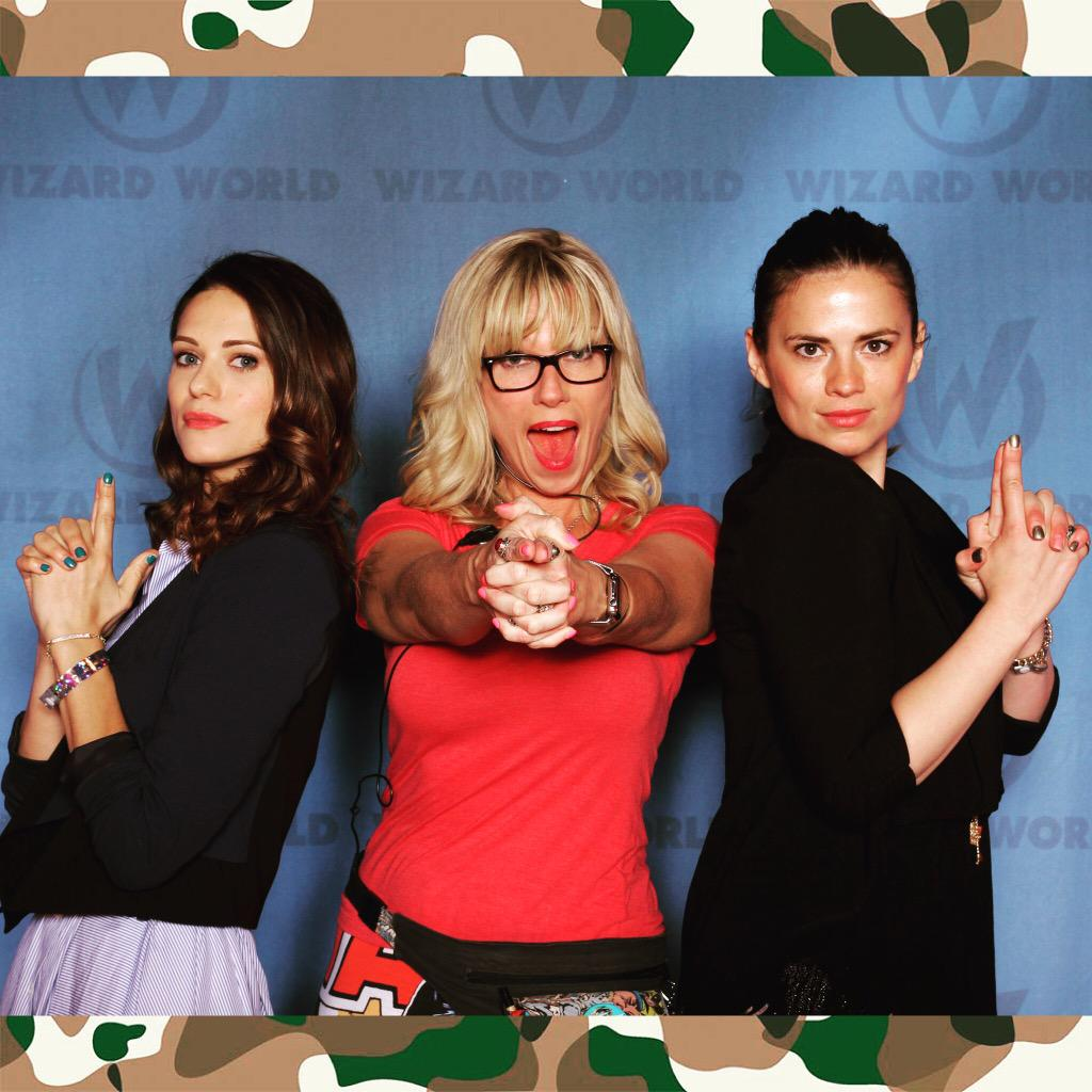 We will keep the streets free of crime! #agentcarter #hayleyatwell #lyndsyfonseca #wizardworld #cpolife #conlife http://t.co/40wz2SCQi3