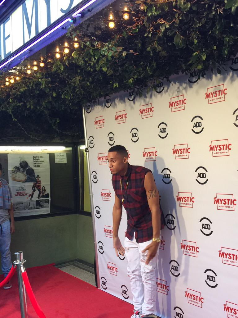 RT @AllDefDigital: .@mysticgotjokes at the premiere of his movie #TheMysticMovie http://t.co/YiCFTSpdCA