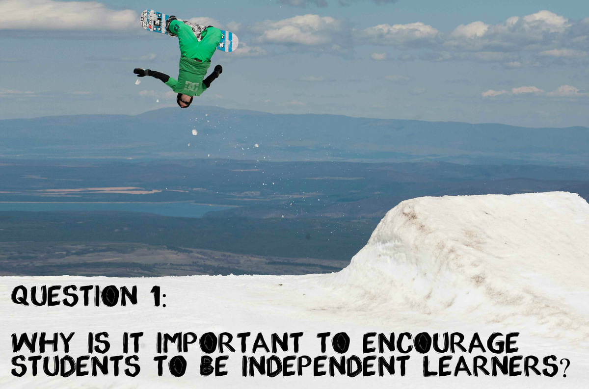 Q1 Why is it important to encourage students to be independent learners? #aussieED http://t.co/Ae5eW56Gk8