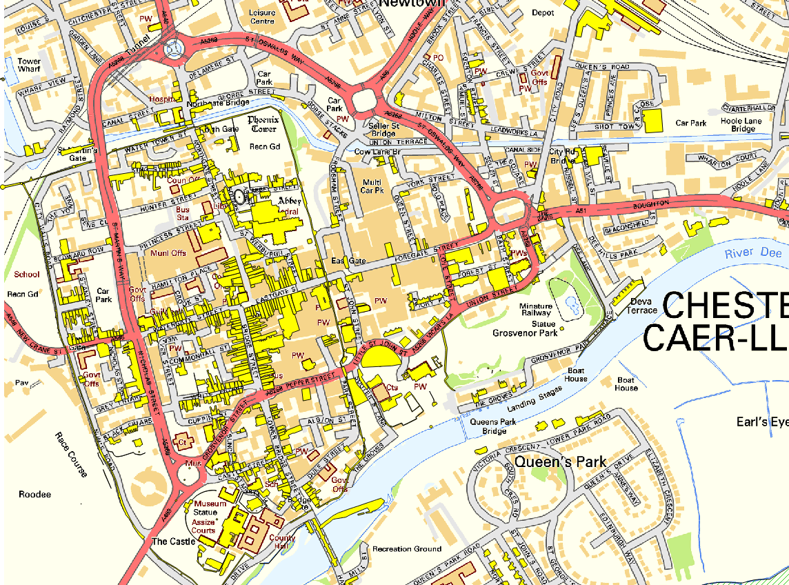 Map Of Chester City Centre John Murray on Twitter: