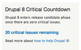 ...and then there were 20! https://t.co/N2jKJmvhWx #Drupal http://t.co/QBMXbjQRRo