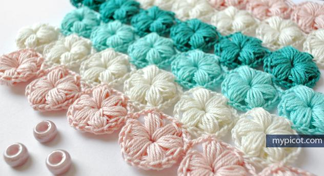 Mypicot On Twitter Crochet Flower Puff Stitch Pattern Diagram