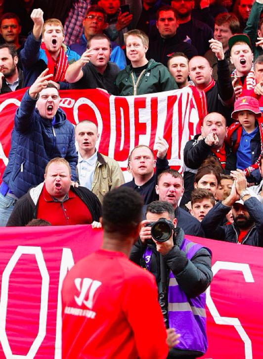 "Nice touch from the Liverpool fans singing: ""Raheem Sterling, we want you to stay."" http://t.co/HAwdVmVKzK"