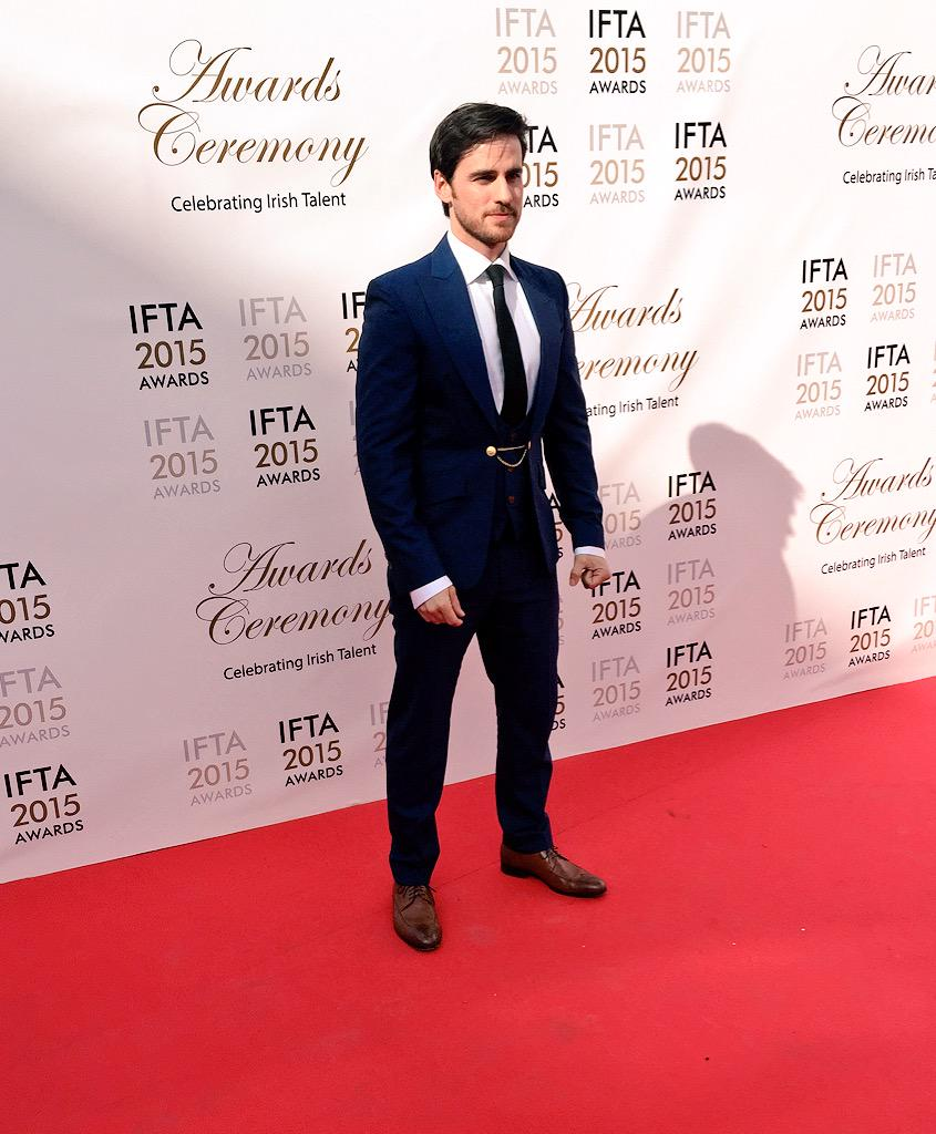 Colin O'Donoghue from Once Upon A Time #IFTA15 http://t.co/ZmEJAU9Zls