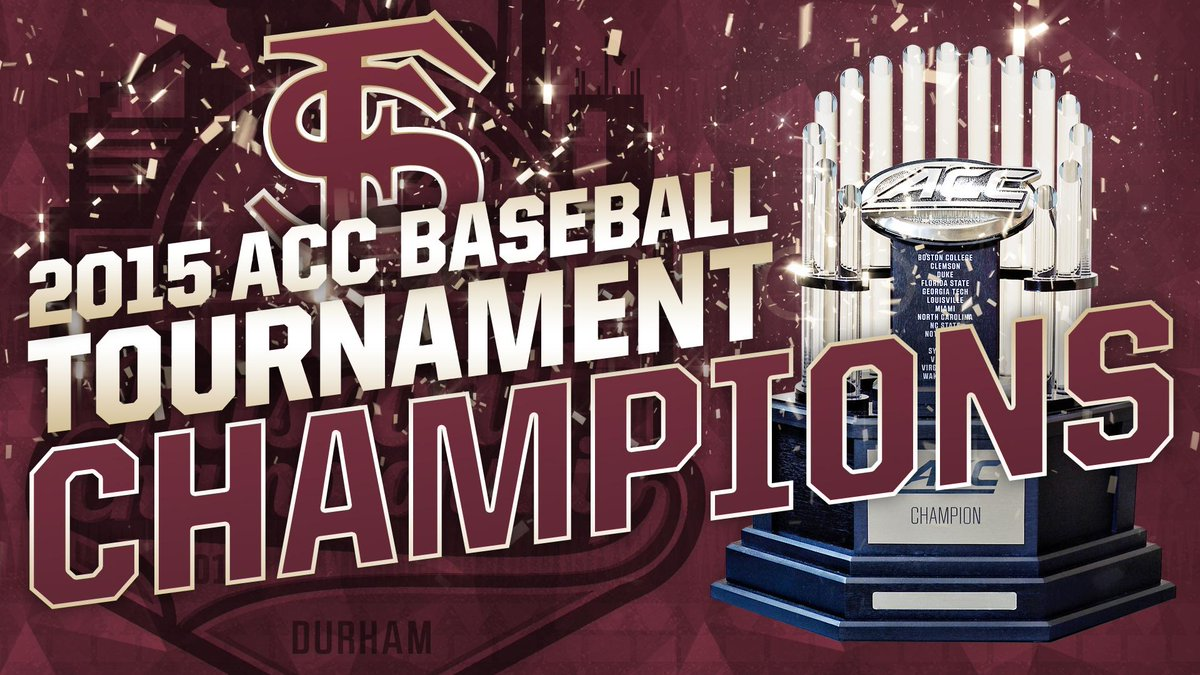The #Noles win the 2015 #ACCBase Championship!! http://t.co/CCkOfGFR0L