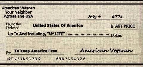 Remembering those who had their checks cashed at full value this #MemorialDay. http://t.co/UddHqcllF6
