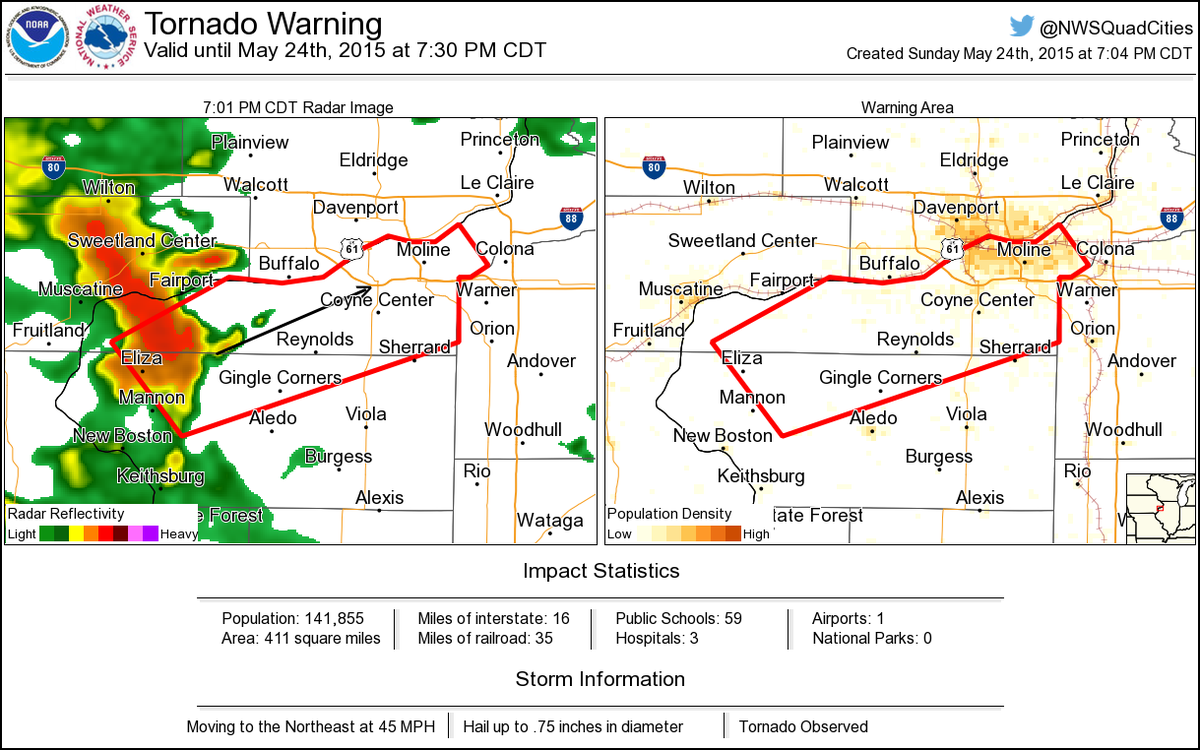 tornado warning including moline il rock island il east moline il until 7  30 pm cdt