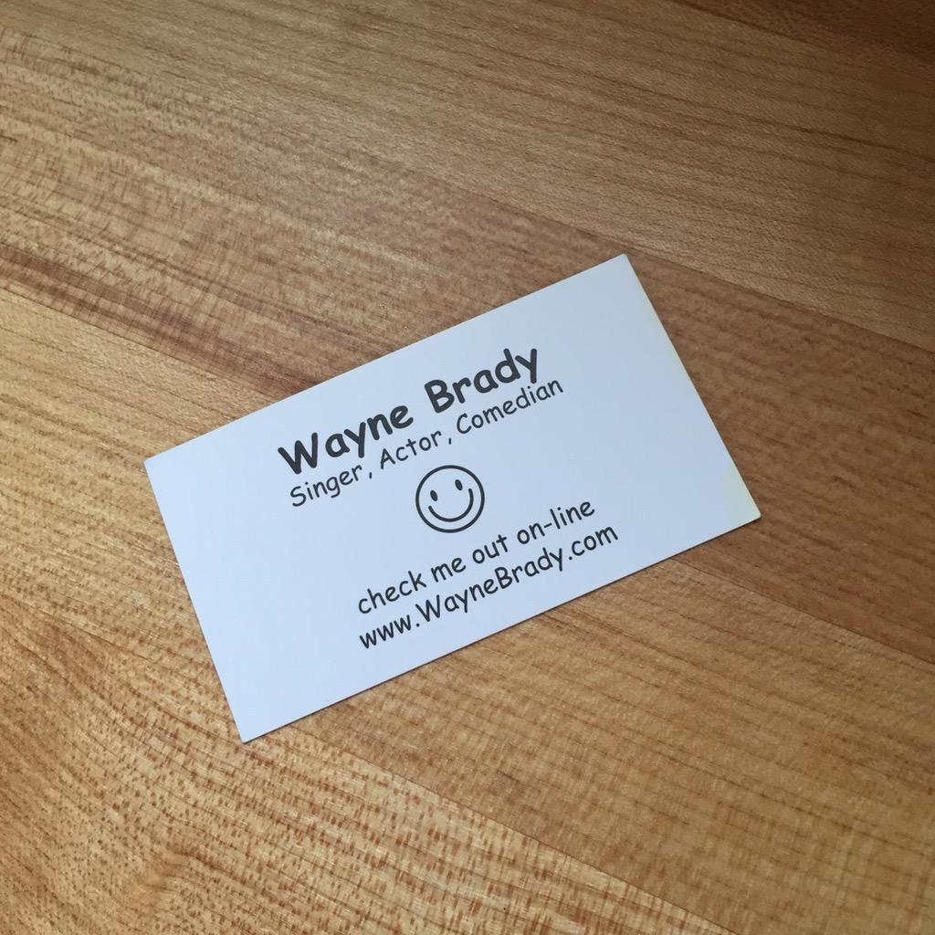 Avery monsen on twitter here is a wayne brady business card i avery monsen on twitter here is a wayne brady business card i just left in an airbnb in austin httptxf0e5ilfrv magicingreecefo Images