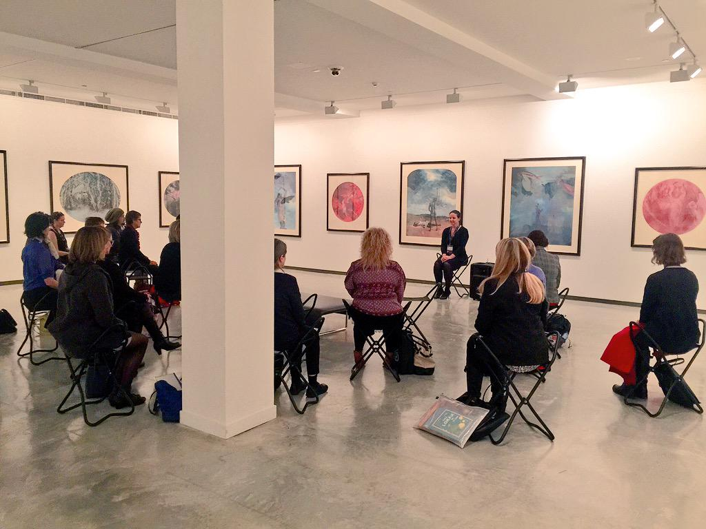 What a gorgeous way to start #aisignite with a meditative mindfulness session amongst the art at the MCA http://t.co/Zl9O19KL7E