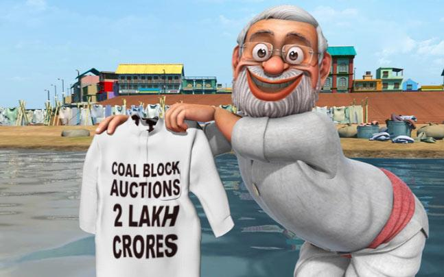 """(Got to watch it..very creative) IndiaToday: #SoSorry Can @narendramodi clean the 'UPA mess'? http://t.co/WnIgZ0xhEk """""""