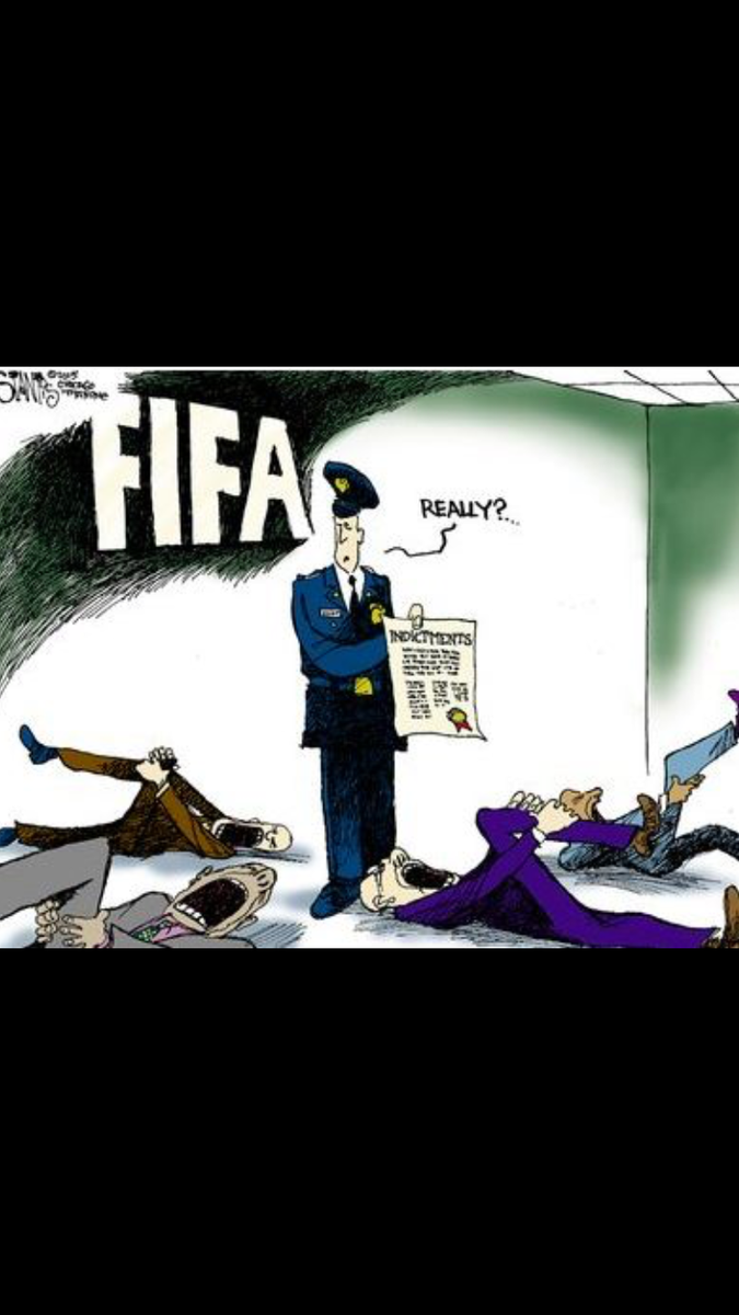 FIFA's current fiasco summed up in a single perfect panel by @sstantis http://t.co/X27pRwOVeU