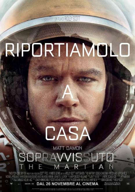 FOTO Matt Damon è l'astronauta Mark Watney nel film The Martian