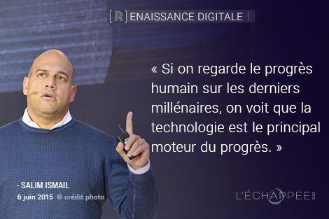 .@salimismail de la @singularityu nous parle des lois de l'exponentielle #echappee15 http://t.co/06XhSVG7DC
